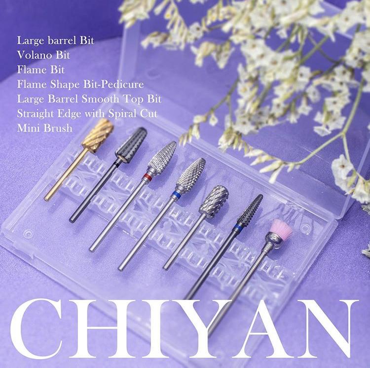 Лучшие сверла CHIYAN, набор сверл для ногтей с хвостовиком 3/32 для маникюра и педикюра