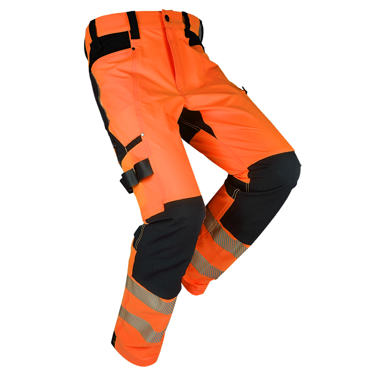 Custom Men's reflective multi-pocket industrial durable high visibility work pants - KingCare | KingCare.net
