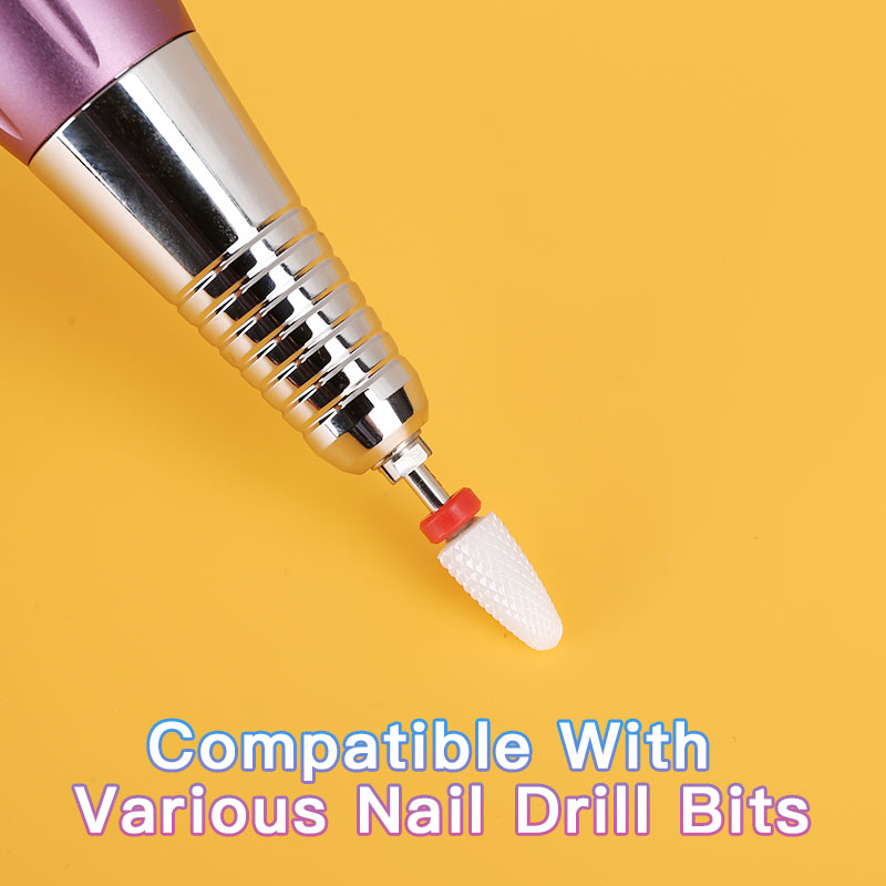 Portable taladro para unas 30,000 RPM Cordless & Rechargeable Nail Drill Light Weight for Home nails Easy Carry and Storage