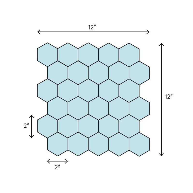 Белая Шестигранная мраморная керамическая мозаичная плитка 12 х12 для украшения интерьера дома