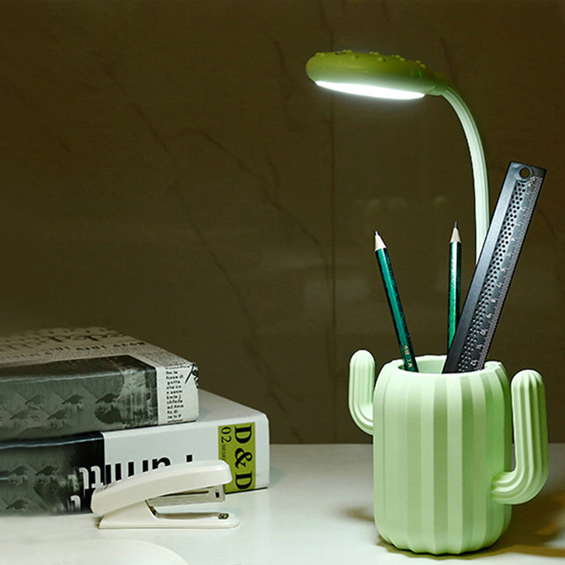 Manufacture led deak lamp factory Cactus penholder led lamp table lamp shenzhen