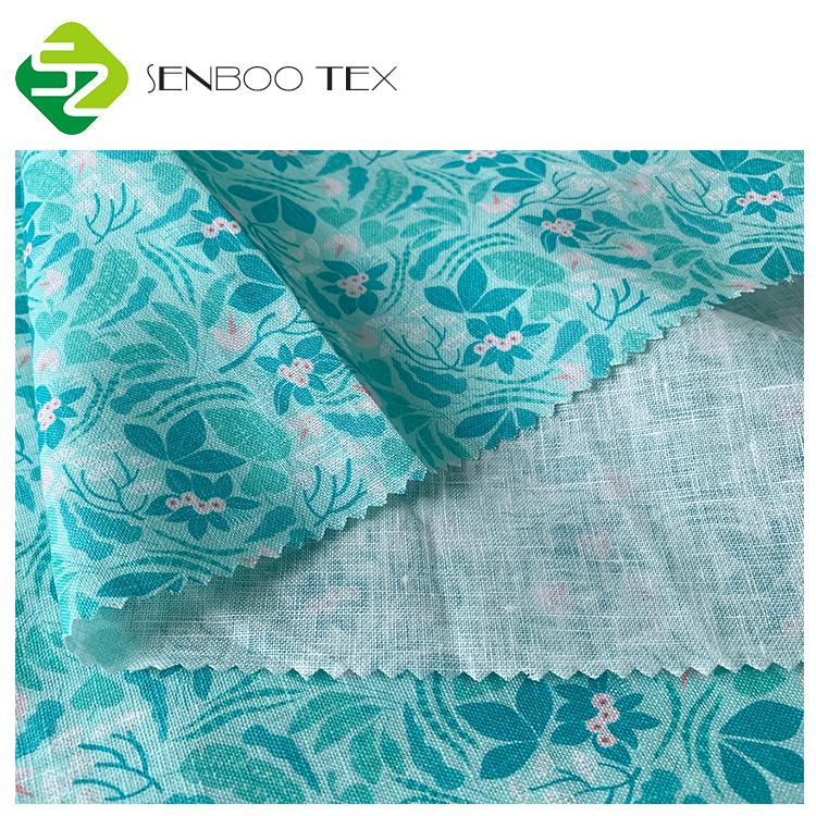 Экологичные решения, 100% чистая льняная ткань, цифровая печать, мягкая для платья