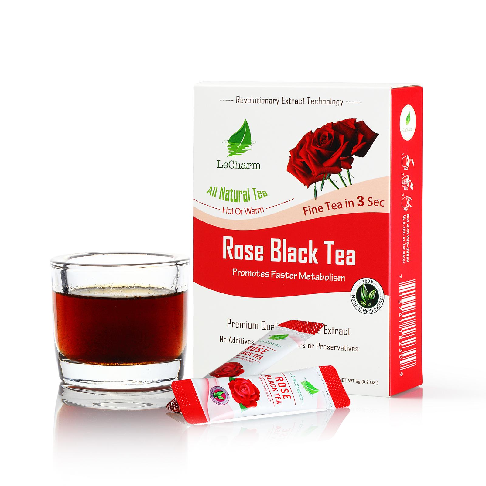 Original Soothing Vital Beauty Natural Detox Smooth Scented With Flowers Rose Black Tea 10 Sachets/ Box - 4uTea | 4uTea.com