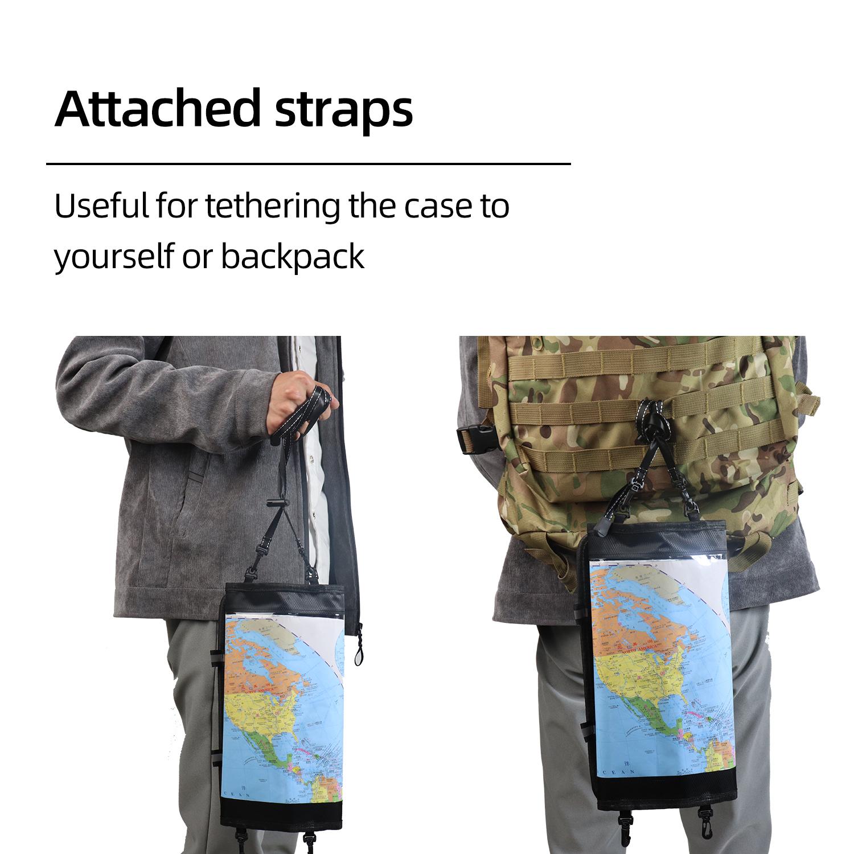 Чехол из ПВХ с картой на заказ, водонепроницаемая сухая сумка с прозрачным окошком и шнурком