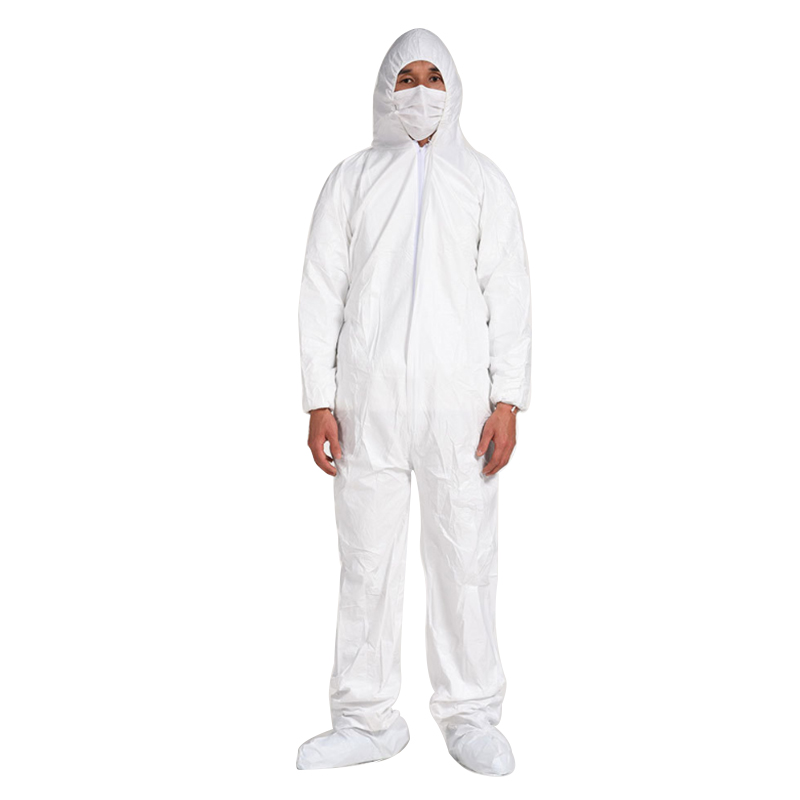 White Painters Coveralls Unisex Disposable Microporous Coverall Waterproof - KingCare | KingCare.net