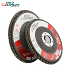 Factory supply 115mm flap disc zirconia material for polishing alloy  inox 40#-120#