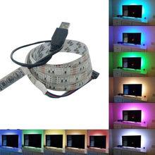 2 м 5050 USB Светодиодная лента яркое ТВ фоновое освещение изменение цвета настольная декоративная лента Гибкая световая лампа 2,28(Китай)