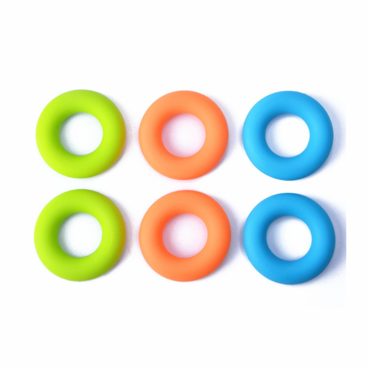 3PCS Set Hand Gripper Grip Silicone Ring Resistance Strength Trainer Exerciser