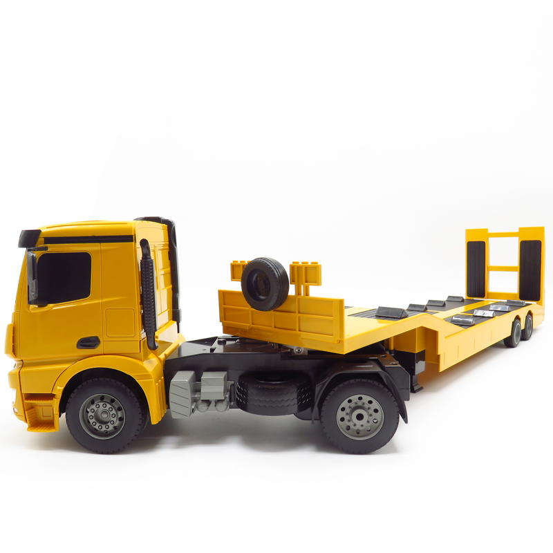 RC Truck Flatbed Semi-Trailer 1:20 2.4G Engineering Tractor Remote Control Construction Diecast Model Kids Electronics Toys