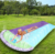 Double Water Slide, Inflatable Lawn Water Slip and Slide Long Large Thick Surfing Watersports Toy Surf Rider Double Sliding Lane