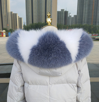 Fashion Custom Detachable Big Real Raccoon Fur Hood Trim Collar for Parka