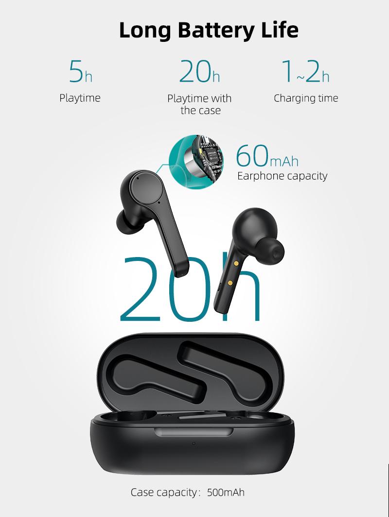 Trending Mini Earbuds Wireless Headphones in-ear Wireless ENC Noise Cancelling Call Mic Earphones Wireless
