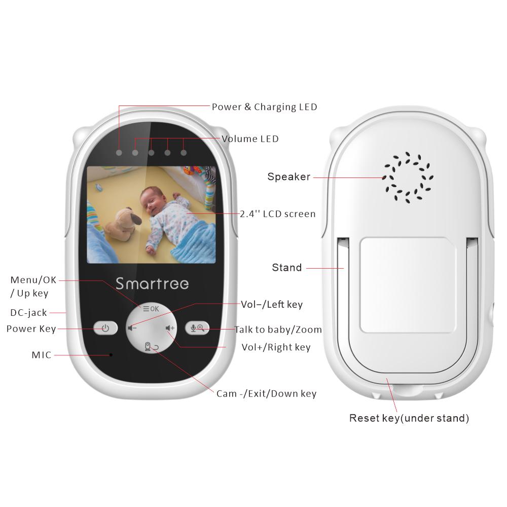 Новый классический детский автомобильный монитор, портативный видеоняня campark с камерой ночного видения