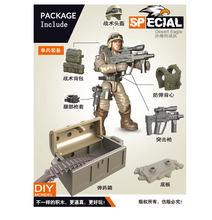 Мини солдатский набор, дезерты, боевые силы, фигурки со строительными блоками, оружие, армейская совместимость, все основные бренды, игрушки...(Китай)