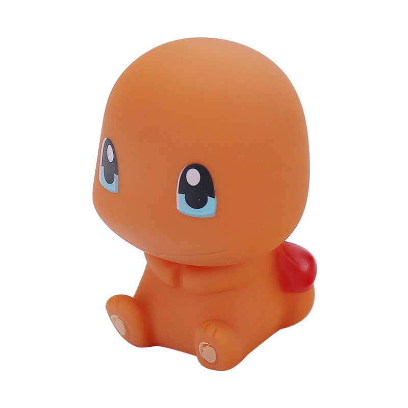 Оптовая продажа, детская игрушка для ванны с покемоном, плавающая детская игрушка для ванны, мультяшный силиконовый набор детских игрушек для ванны