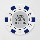 Casino Poker Poker Chip Sets Custom Made Logo 40mm Casino ABS Iron Casino Poker Chips Set