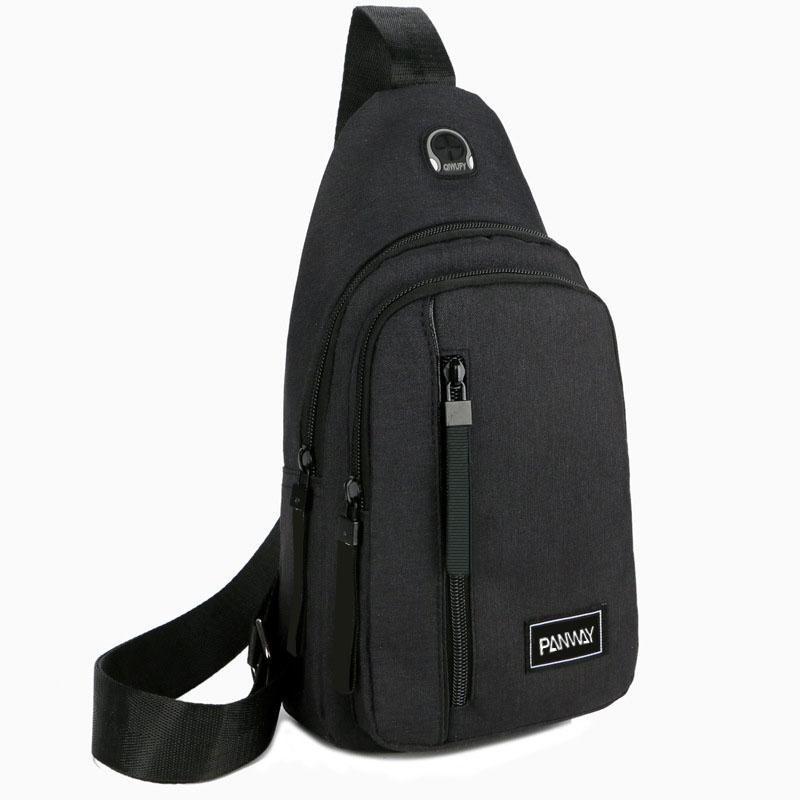 Multifunctional Lightweight Leisure casual black crossbody messenger Men crossbody bags chest