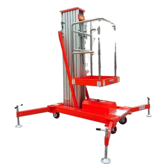 RED-LIFT 4000mm to 8000mm  aluminum alloy electric aerial work platform truck