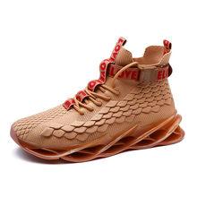 Мужская Высокая Повседневная обувь; Мужская модная дышащая Нескользящая Баскетбольная обувь; Уличная обувь для бега на шнуровке; Zapatillas Hombre(Китай)