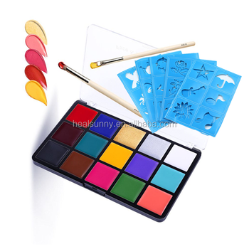 Halloween private label art water base neon supplies wholesale flag face paint kit for kids