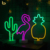 Hot Sale Cactus LED Neon Night Table Lamp with ABS Base, Mini Desktop Cactus Neon Sign
