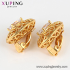 Earrings Earrings Colourful Earrings 80290 Xuping Synthetic Cz Gold Color Ladies Oval Shaped Design Clip On Earrings
