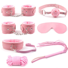 Plush 7 Seven-Piece Set Sex Tool of SM PU Alternative Binding Torture Tools Adult Bed Sex Bondage Cosplay Strap Flirt Tied Toys