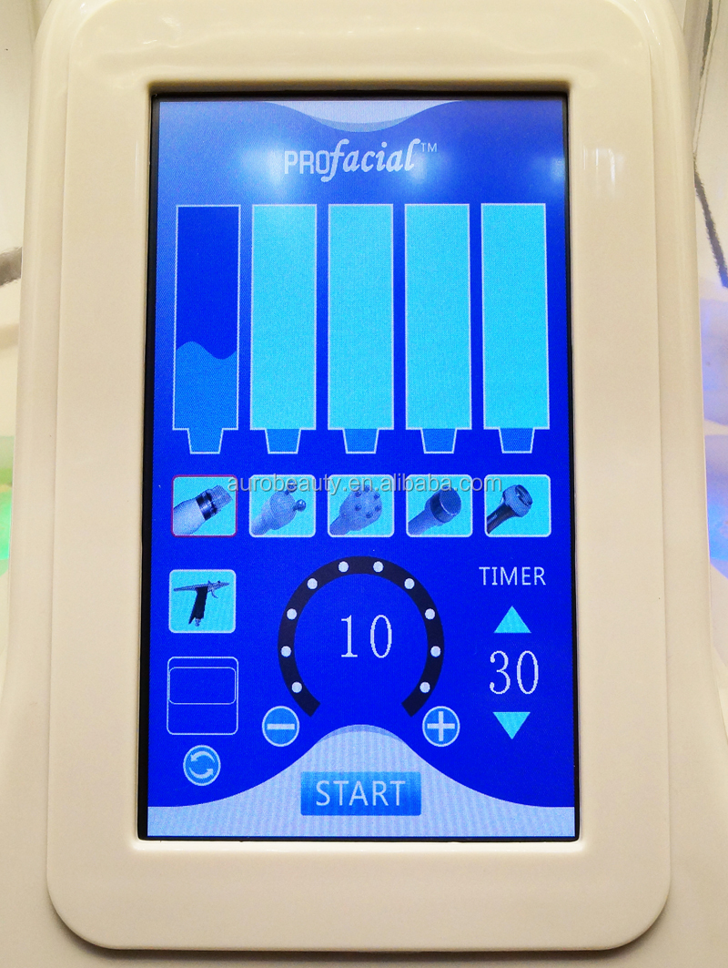 Au-S515A Pro HidraFacial/Oxygen Water Microdermabrasion Ultrasonic RF Microcurrent Machine With Cold Hammer