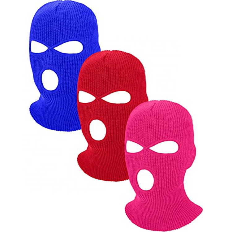 Wholesale Winter Hats Balaclava Mask New Fashion Custom Hats Designer Ski Mask Full Face Cover 3 Holes Ski Mask