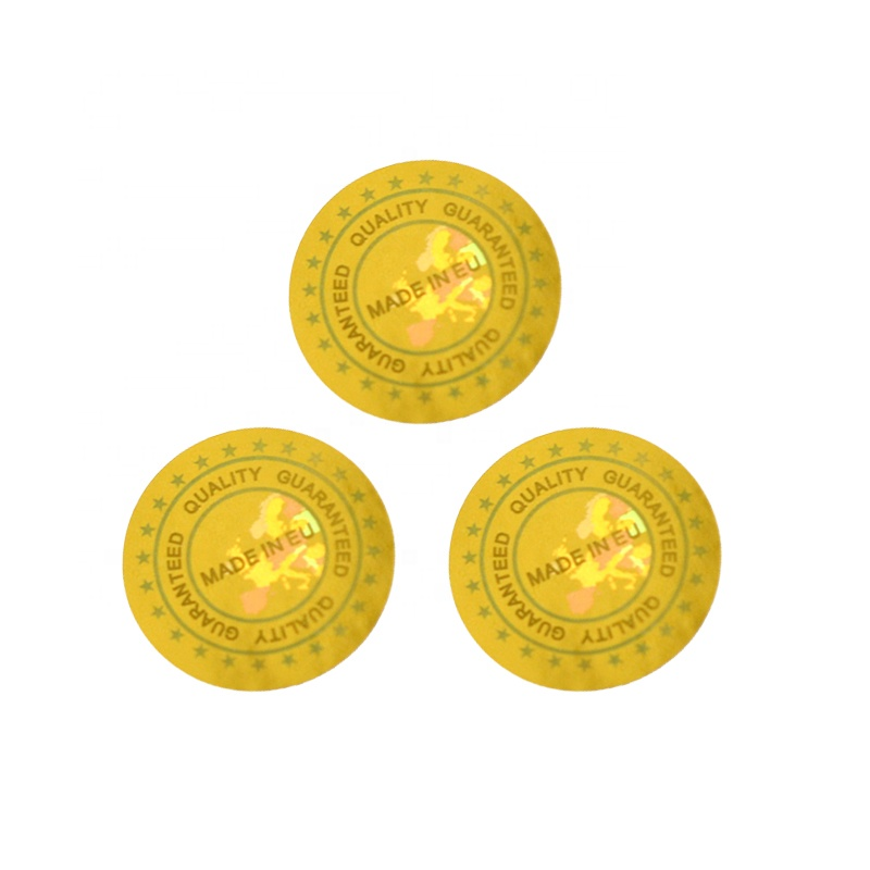 High-quality Tamper proof Holographic sticker Anti counterfeiting Hologram Laser Guaranteed Silver Label
