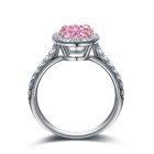 Rng Ring Wedding S925 Sterling Silver 2.0CT Moissanite Pigeon Egg Shape Pink Engagement Rng Diamonds Ring Engagement Wedding Party Jewelry