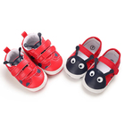 popular pu&cotton Red shoes lovely worm toddler boy girl cute babe shoes