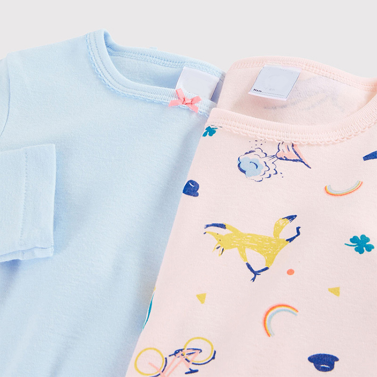 Custom Knitted Children T-shirt Kids Long Sleeve T Shirt Girls Top Wear Breathable/Sweat Releasing