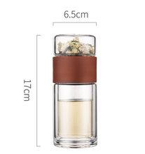 Стеклянная бутылка для воды с фильтром для заварки чая, 200 мл, двойная настенная стеклянная бутылка для чая, Герметичная Бутылка Для Воды, по...(Китай)