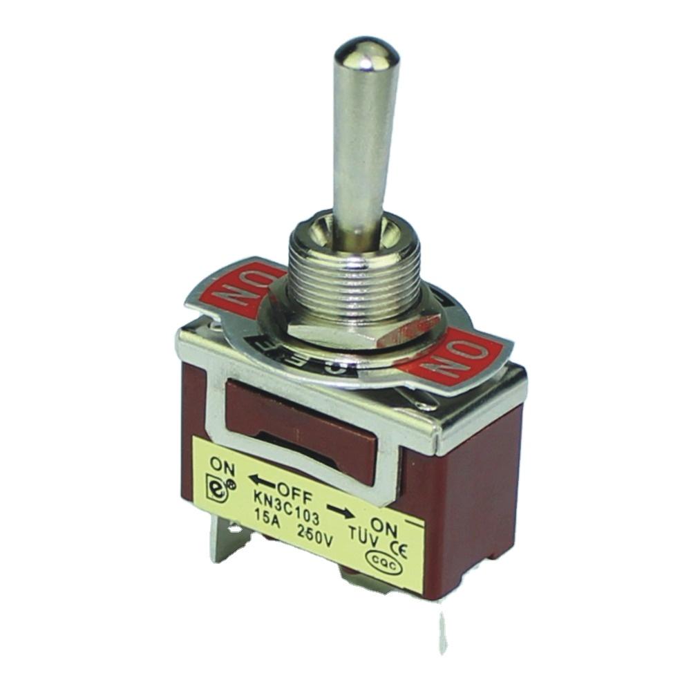 KN3C-103P 12 мм 15A 250V 3Pin вкл/выкл на 3 позиции SPDT тумблер