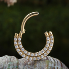 Ring Septum Ring PVD Gold ASTM F136 Titanium Daith Ring Septum Clicker Nose Ring G23 Titanium Body Piercing Jewelry