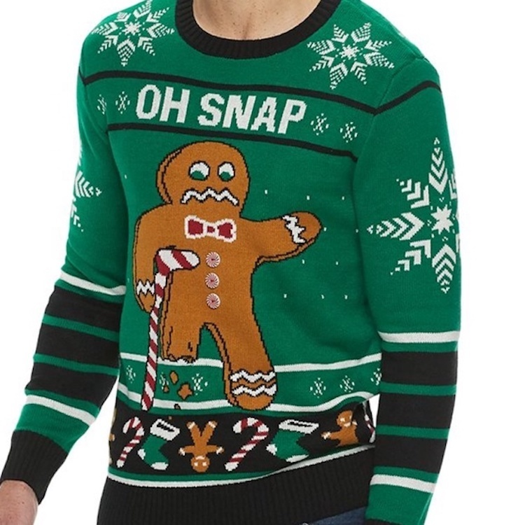 2020 Crew Neck Long Sleeve Knit Casual Men Ugly Christmas Sweater