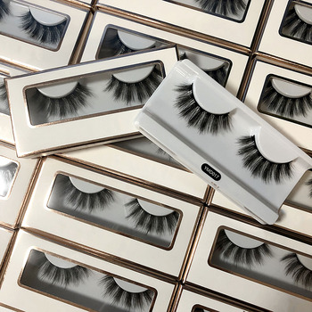 Wholesale False Lashes Private Label Packaging Handmade Vegan 3D 5D Silk Lashes Synthetic Eyelashes Faux Mink Eyelashes