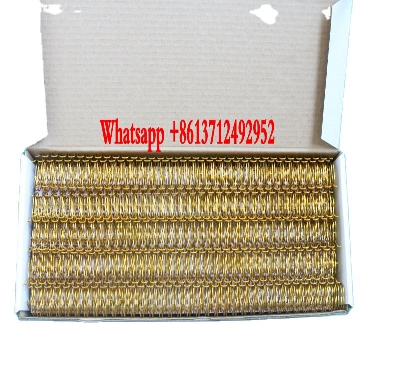 Metal Double Loop Wire Spiral Binding O double loop spiral binding wire ring wire-o for notebook or calendar