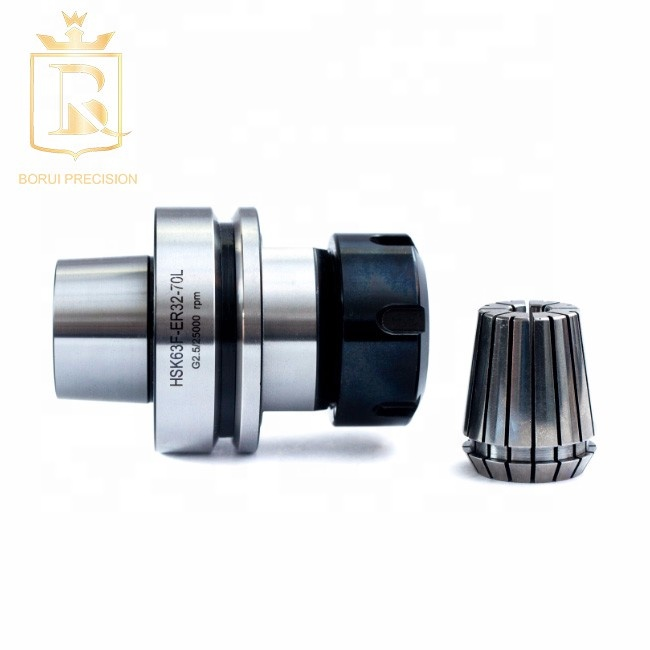 ER32 HSK 63F Taper Tool Holder Collet Cnc Rouer Mold Industry, and High-speed Engraving Machine Plastic Box Hrc58±2mm 30000rpm