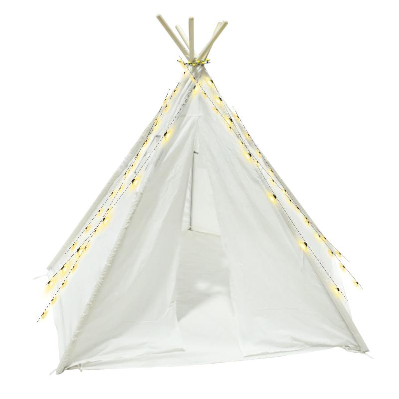 Низкий минимальный заказ, белая палатка-вигвам для детей и взрослых, из хлопка, в наличии