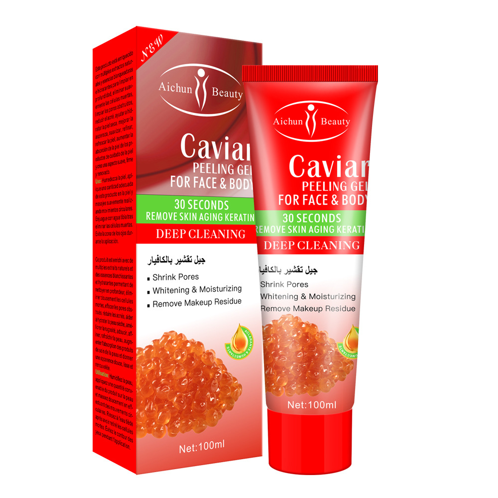 Caviar Exfoliating Face Body Scrub Cream Gel Skin Whitening Peeling Facial Dead Remover Exfoliator Scrub Gel