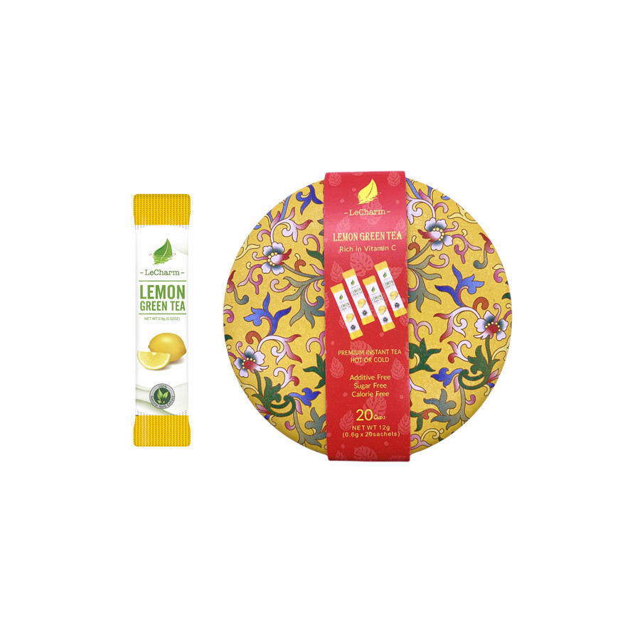 2021 Christmas Promotion Fresh Cool Flavor Complex Lemon Green Tea 20 Sachets/ Can - 4uTea | 4uTea.com