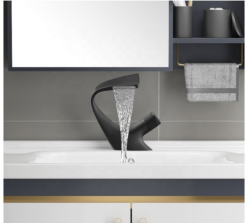 YLB0210 черный ванная комната кран бассейна водопроводной воды