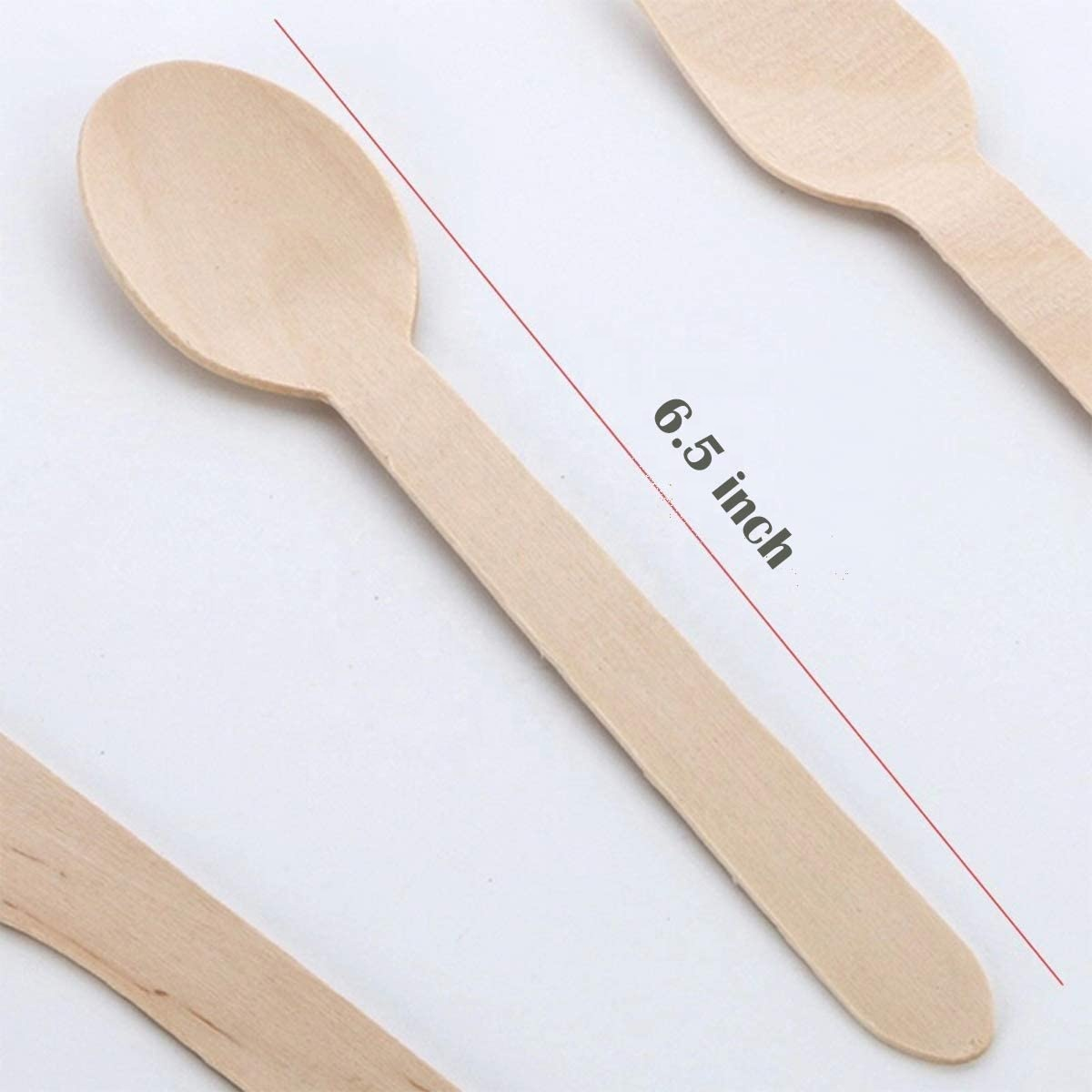 Yachen manufacturer Customizable Disposable Eco Friendly Biodegradable Compostable Wood Spoon for salad