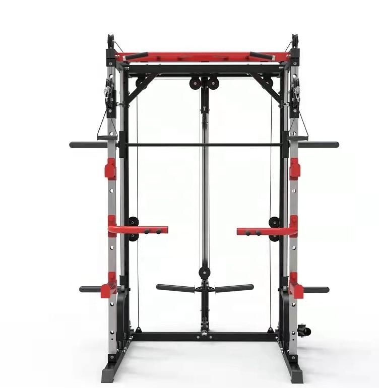 Fitness Equipment trainer Multi Station Smith machine gym adjustable Power cage squat rack