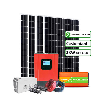 2kw solar system renewable green energy off grid solar panel kit 2000w solar energy system