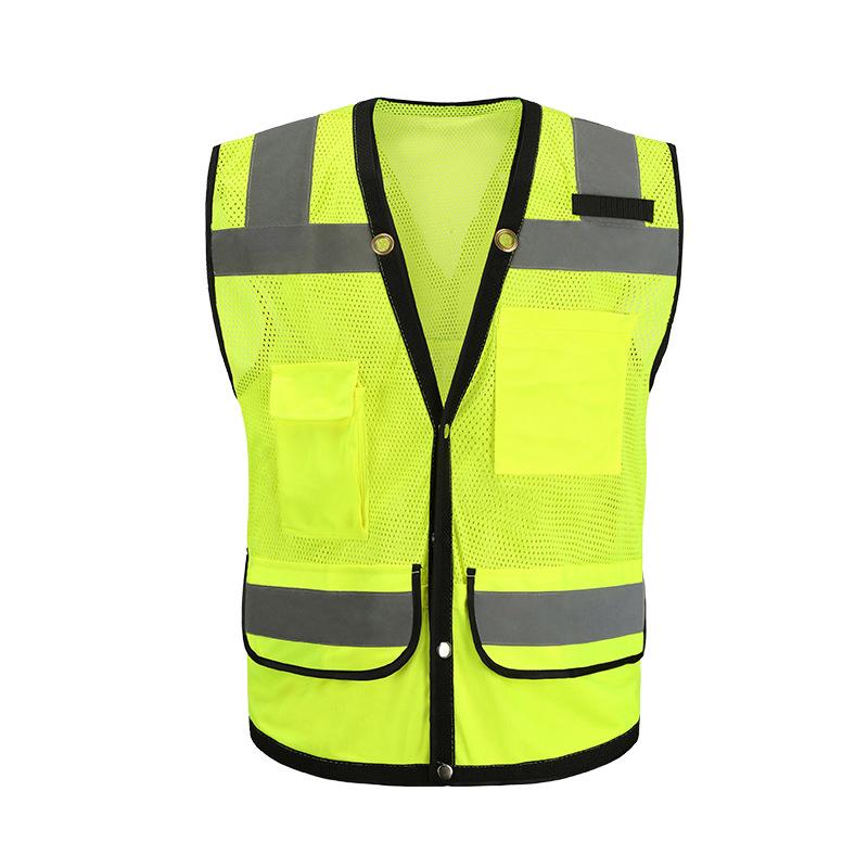 Лучшая цена, Защитный дышащий светоотражающий жилет с высокой видимостью на строительной площадке