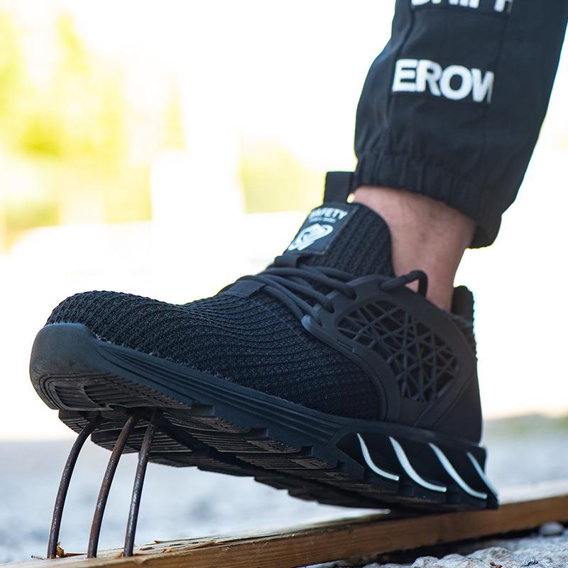 Лидер продаж, дешевая Высококачественная резиновая Рабочая Спортивная защитная обувь, стальной носок, большой размер 48, Мужская модная защитная обувь