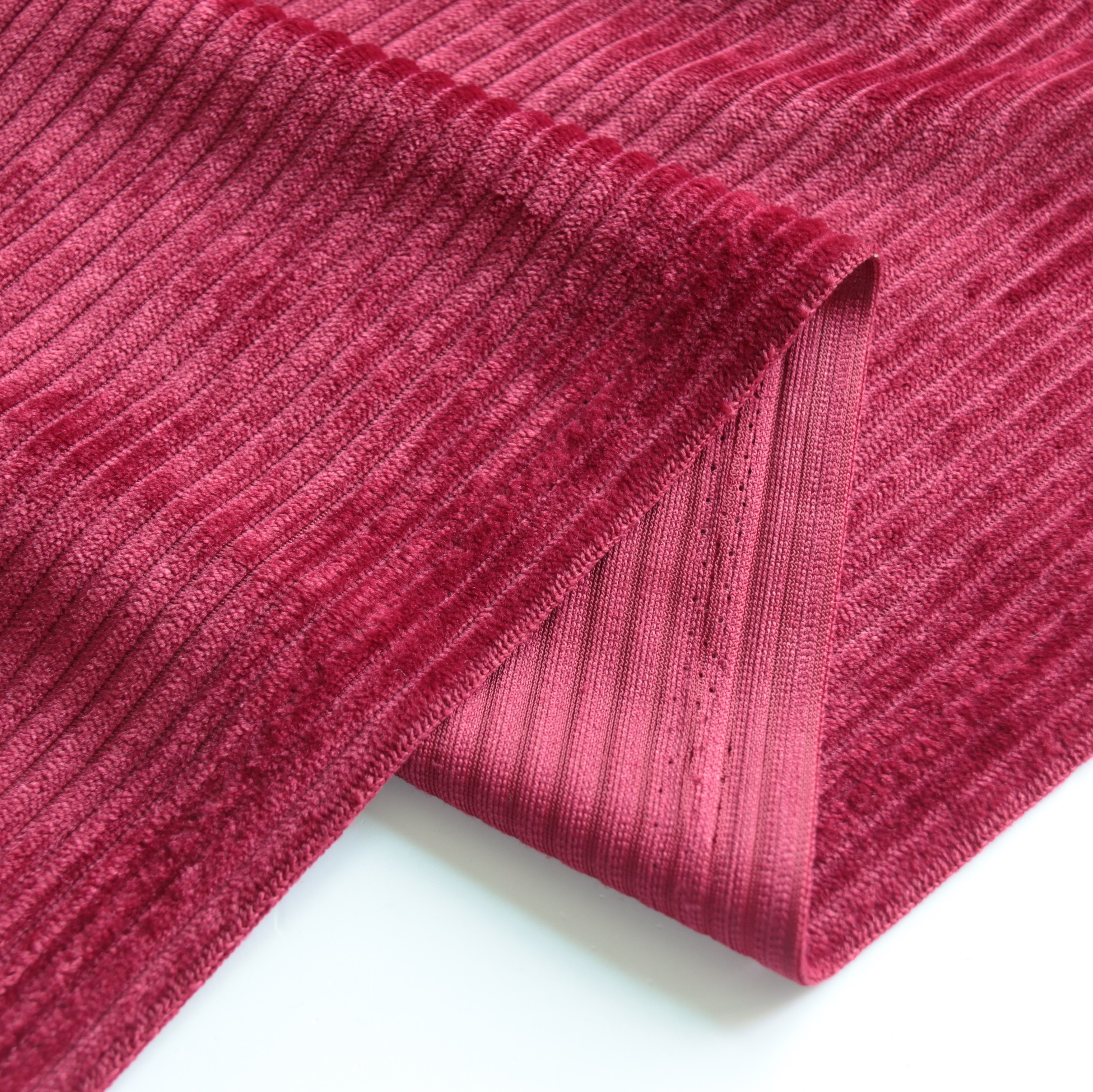 100% polyester jacquard 200GSM stripe knitted cotton corduroy  for clothes and sofa fabrics